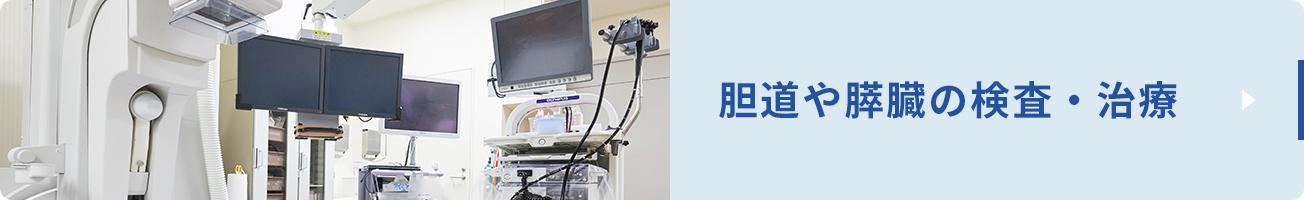 胆道や膵臓にできる結石、炎症、良性腫瘍、がんなどの診断・治療も内視鏡が多く用いられています。